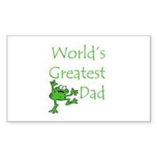 Greatest Dad Rectangle Decal