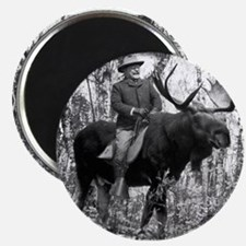 Teddy Roosevelt On Bullmoose Magnets