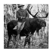 Teddy Roosevelt On Bullmoose Tile Coaster