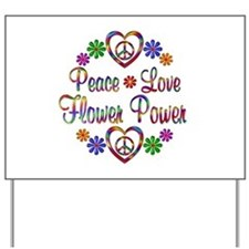 Flower Power Peace Yard Sign