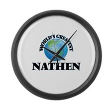World's Greatest Nathen Large Wall Clock