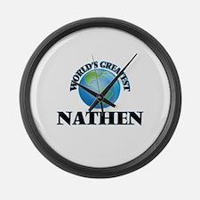 World's Greatest Nathen Large Wall Clock