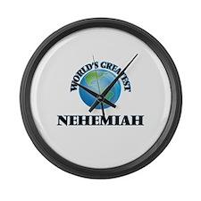 World's Greatest Nehemiah Large Wall Clock