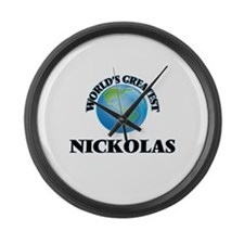 World's Greatest Nickolas Large Wall Clock