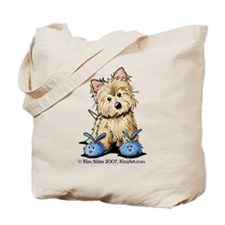 Blue Bunny Cairn Tote Bag