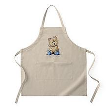 Blue Bunny Cairn BBQ Apron