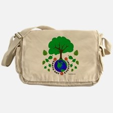 Earth Day Every Day Logo Messenger Bag
