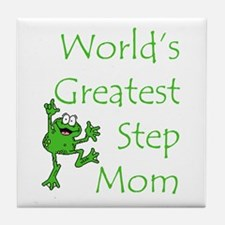 Greatest Stepmom Tile Coaster
