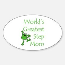 Greatest Stepmom Oval Decal