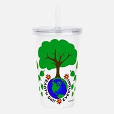Earth Day Every Day Lo Acrylic Double-wall Tumbler