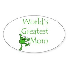 Greatest Mom Oval Decal