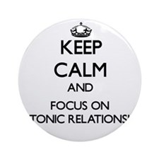 Keep Calm and focus on Platonic R Ornament (Round)