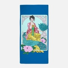 Dragonflies Peacock and Kimono Beach Towel