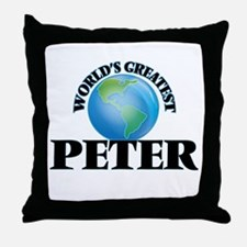 World's Greatest Peter Throw Pillow