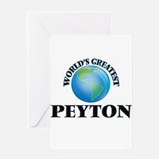 World's Greatest Peyton Greeting Cards
