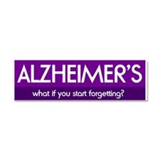 Unique Alzheimers disease supportive Car Magnet 10 x 3