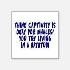 "Think captivity is okay? - Square Sticker 3"" x 3"""