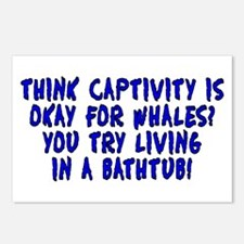 Think captivity is okay? Postcards (Package of 8)
