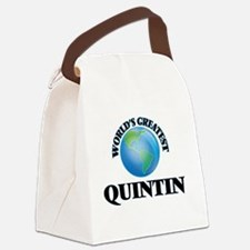 World's Greatest Quintin Canvas Lunch Bag
