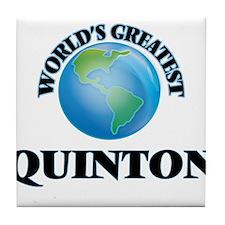 World's Greatest Quinton Tile Coaster
