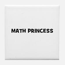 Math Princess Tile Coaster