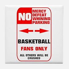 NO PARKING Basketball Sign Tile Coaster