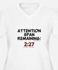 Short Attention Span Humor Sayin Plus Size T-Shirt