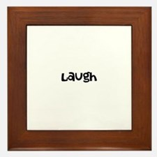 Laugh Framed Tile