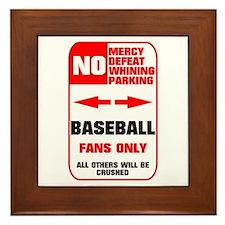 NO PARKING Baseball Sign Framed Tile