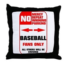NO PARKING Baseball Sign Throw Pillow