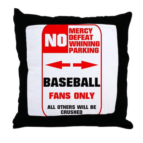 NO PARKING Baseball Sign Throw Pillow