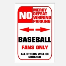 NO PARKING Baseball Sign Postcards (Package of 8)