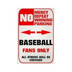 NO PARKING Baseball Sign Rectangle Magnet (10 pack