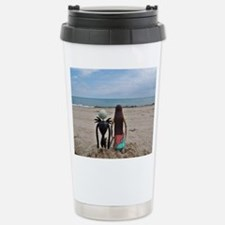 Cute Beach and ocean Travel Mug