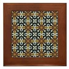 Chic Abstract Animal Print Framed Tile
