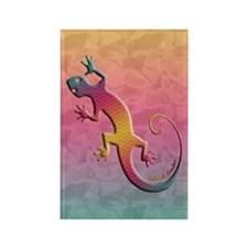 Island Gecko Rectangle Magnet