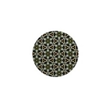 Chic Abstract Animal Print Mini Button