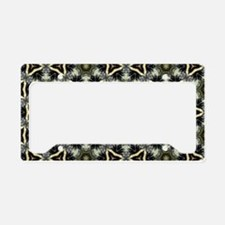 Chic Abstract Animal Print License Plate Holder