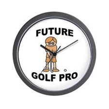 Future Golf Pro (Boy) Wall Clock