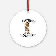 Future Golf Pro (Boy) Ornament (Round)
