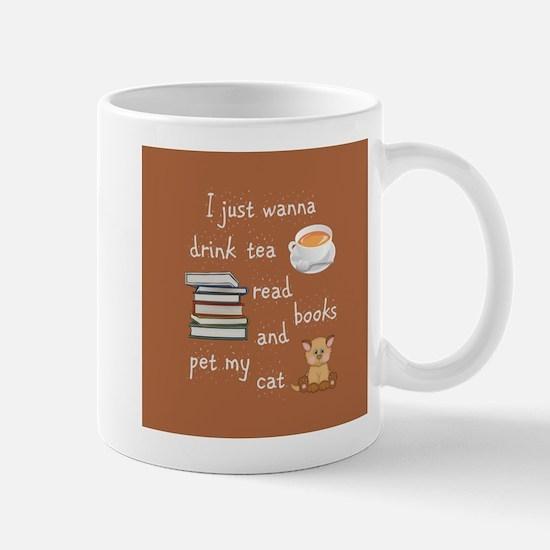 Tea Books Cats Mugs
