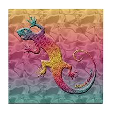 Island Gecko Tile Coaster
