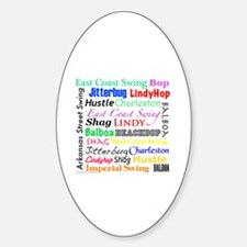 All Swing Dances Sticker (Oval)