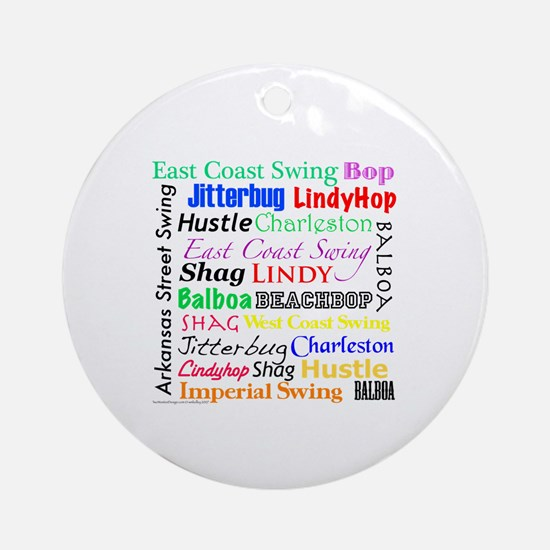All Swing Dances Ornament (Round)