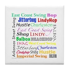 All Swing Dances Tile Coaster