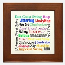 All Swing Dances Framed Tile