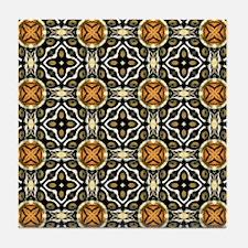 Chic Abstract Animal Print Tile Coaster