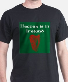 Heaven is in Ireland. Wht Red T-Shirt