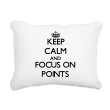 Keep Calm and focus on P Rectangular Canvas Pillow