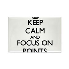 Keep Calm and focus on Points Magnets